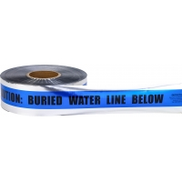 Polyethylene Underground Water Line Detectable Marking Tape, 1000' Length x 3' Width, Blue