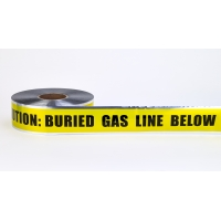 Polyethylene Underground Gas Line Detectable Marking Tape 1000' Length x 3' Width, Yellow