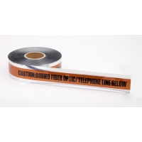 Polyethylene Underground Tele/Fiberoptic Detectable Marking Tape, 1000' Length x 2' Width, Orange