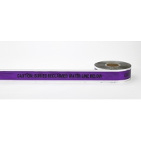 Polyethylene Underground Reclaimed Water Detectable Marking Tape, 1000' Length x 6' Width, Blue