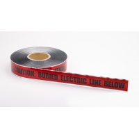 Polyethylene Underground Electric Line Detectable Marking Tape, 1000' Length x 2' Width, Red