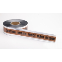 Polyethylene Underground Force Main Detectable Marking Tape, 1000' Length x 3' Width, Brown