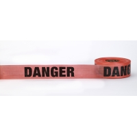 Reinforced 'Danger' Barricade Tape, 7 mil, 3' x 500', Red (Pack of 8)