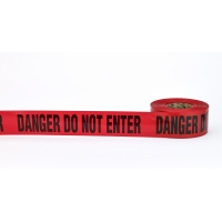 Barricade Tape, 'Danger Do No Enter', 3 mil, 3' x 300', Red (Pack of 16)