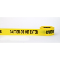 3Mil Barricade Tape, 'Caution Do Not Enter', 3' x 1000', Yellow (Pack of 10)