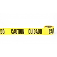 17779-51-0300, Barricade Tape, Cuidado Caution, 3 mil, 3 x 300', Yellow (Pack of 16), Mega Safety Mart