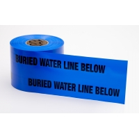 Polyethylene Non Detectable Underground Water Line Marking Tape, 4.5 mil Thickness, 1000' Length x 6' Width, Blue