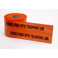 Polyethylene Non Detectable Underground Tele/Fiberoptic Marking Tape, 4.5 mil Thickness, 1000' Length x 6' Width, Orange