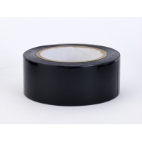 PVC Vinyl Aisle Marking Tape, 6 mil, 2' x 36 yd., Black (Pack of 24)