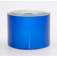 Engineering Grade Retro Reflective Adhesive Tape, 50 yds Length x 4' Width, Blue