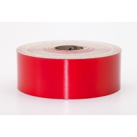 Engineering Grade Retro Reflective Adhesive Tape, 50 yds Length x 2' Width, Red
