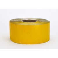17792-41-4000, Construction Grade Foil Backed Pavement Marking Adhesive Tape, 100 yds Length x 4 Width, Yellow, Mega Safety Mart