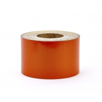 Super Engineering Grade Reflective Barrel Adhesive Tape, 50 yds Length x 4' Width, Orange