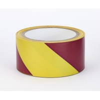 17799-04171-2018, Polypropylene Laminated Super Tuff Hazard Stripe Tape, 2 x 18 yd., Yellow/Magenta Stripe (Pack of 4), Mega Safety Mart