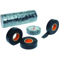 Electrical Tape, 0.007 mil, 3/4' x 60 yd., Black (Pack of 10)
