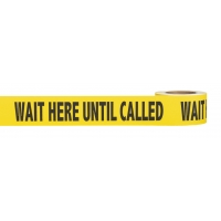 Social Distancing Warning Anti-Skid Floor Tape - WAIT HERE UNTIL CALLED -  3' x 54'  - Black/Yellow