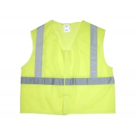 20025-0-106, ANSI Class 2 Non Durable Flame Retardant Vest, Mesh, Lime -3XLarge, Mega Safety Mart