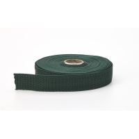 Polypropylene webbing, 1.5' Wide, 10 yds, Dark green