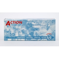 29000-4, High-Risk Latex Gloves, 14 mil, X-Large, Blue (Pack of 500), Mega Safety Mart