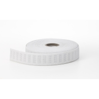 No roll elastic, White 1' - 10 yards
