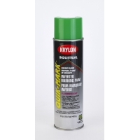 Krylon Inverted Marking Paint, 20 oz, 12 PK, S03614V Flo Neon Green