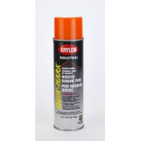 Krylon Inverted Marking Paint, 20 oz, 12 PK, S03702V-Flo Orange