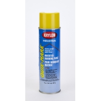 Waterbased Inverted Spray Paint Yellow 3801, 20 oz, 12 PK
