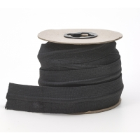 Draw cord elastic, Black 1-1/4' - 10 yards