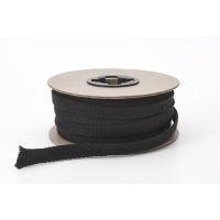 Flat draw cord, 1/2' Wide, 15 yds, Black