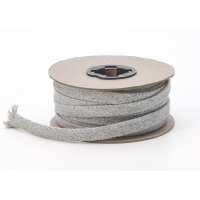 4900-050-015HG, Flat draw cord, 1/2 Wide, 15 yds, Heather gray, Mega Safety Mart