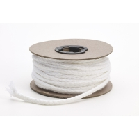 Draw cord, White 1/4' cotton - 25 yards