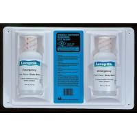 50013, Double Eye Wash Station with 2 16 oz. Bottles, Mega Safety Mart
