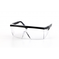 Marlin Glasses, Black Frame, Clear Lens (Pack of 12)