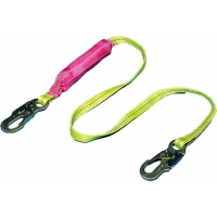 Shock Absorbing Lanyard with 2 Locking Snap Hooks, 6 ft. Length