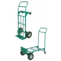 50091, Heavy Duty Welded Steel 2-in-1 Hand Truck with Swivel Casters, 600 lbs Capacity, Mega Safety Mart