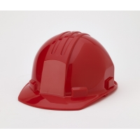 Polyethylene 4-Point Pin Lock Suspension Hard Hat, Red