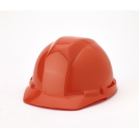 Polyethylene 4-Point Ratchet Suspension Hard Hat, Orange