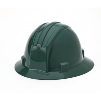 Polyethylene Ratchet Suspension Full Brim Hard Hat, Green
