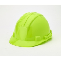 Hard Hat, 6-Point Ratchet Suspension, Hivis Lime