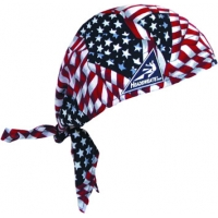 Cotton Head Wrap, American Flag