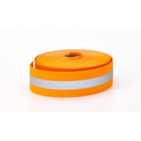 Reflective Elastic, 1.5' Wide, 10 yds, Orange