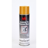 677-41, Inverted Tip Spray Paint, #677 Apwa Caution Yel, 20 Oz.12/cs, Mega Safety Mart