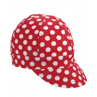 7321-0-0, Kromer Welder Cap, Cotton, Length 5 in, Width 6 in- 1size, Red/White Dot, Mega Safety Mart