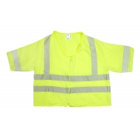 ANSI Class 3 Durable Flame Retardant Vest, Solid, Lime, 4XLarge