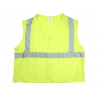 ANSI Class 2 Durable Flame Retardant Vest, Solid, Lime, Large