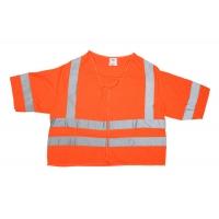 80161-0-103, ANSI Class 3 Durable Flame Retardant Vest, Solid, Orange, Large, Mega Safety Mart
