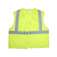 ANSI Class 2 Non Durable Flame Retardant Vest, Solid, Lime, Large