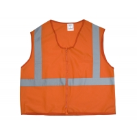 89800-0-102, ANSI Class 2 Durable Flame Retardant Vest, Solid, Orange, Medium, Mega Safety Mart