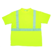 96001-0-105, ANSI Class 2 Durable Flame Retardant T-Shirt, Lime, 2XLarge, Mega Safety Mart