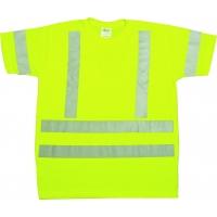 96002-0-103, ANSI Class 3 Durable Flame Retardant T-Shirt, Lime, Large, Mega Safety Mart